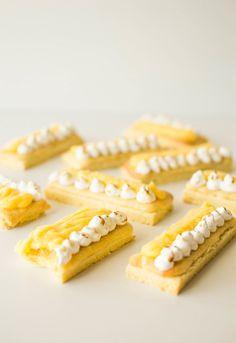 lemon meringue sable breton fingers