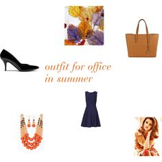outfit for office in summer by envogueover40 on Polyvore featuring Mode, Pink Tartan, Mulberry and Michael Kors
