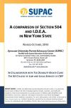 ADVOCACY BRIEF #1:  A COMPARISON OF SECTION 504 AND I.D.E.A. IN NEW YORK STATE