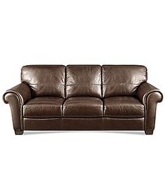 HTL Concord Leather Sofa #Dillards