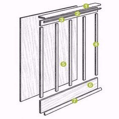 Anatomy of board and batten wainscoting.  | Illustration: Harry Bates | thisoldhouse.com