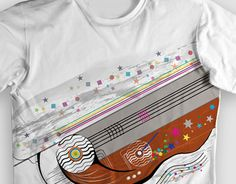"""Check out new work on my @Behance portfolio: """"Estampa de camiseta """"linemusic"""""""" http://on.be.net/1O2y7ic"""