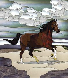 stained glass horses patterns - Google Search