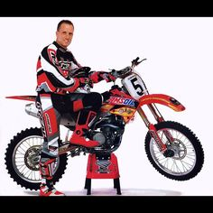 Mike LaRocco with his 2001 Full Factory  Honda CRF450R works bike. #LaRocket #TheBikeThatReallyKille - tonyblazier