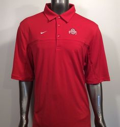 11f90692 Ohio State Buckeyes Athletic Department Coache's NIKE NikeFit L Golf Polo  Shirt #Nike #OhioStateBuckeyes