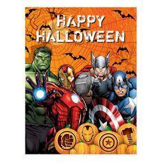 Avengers | Hulk, Iron Man, Thor, & Cap Halloween Postcard | Zazzle.com Halloween Poster, Halloween Themes, Happy Halloween, Superhero Halloween, Hulk Avengers, Avengers Birthday, Marvel Cinematic Universe, Custom Posters, Custom Framing