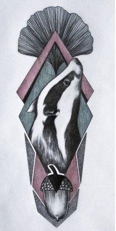 Hannah Willison badger illustration