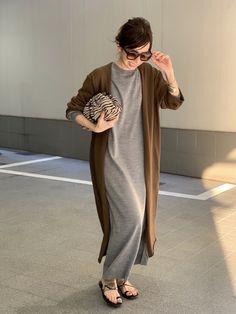 Older Women Fashion, Girls Fashion Clothes, Womens Fashion, Pakistani Fashion Casual, Hijab Fashion, Fashion Outfits, Airport Chic, Long Sweater Dress, Cool Style