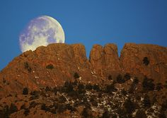 Moon over Horsetooth Rock, Fort Collins, CO #MoveToFortCollins www.realfortcollinsagent.com