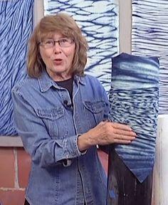 Ana Lisa Hedstrom offers a complete course on Arashi Shibori pole wrapping to create patterned and pleated fabrics.