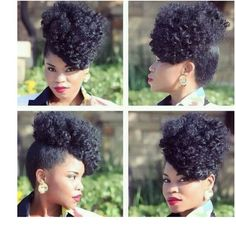 How cute right? New years updo ideas. KTS? Tag her. Coils, Curls, Kinks and more on @ nappyfu IG. #nappyfu