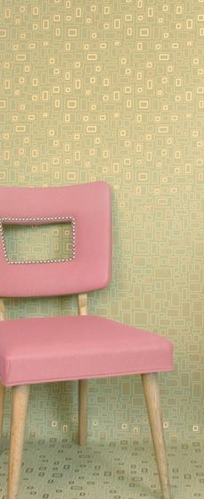"Pink may not go over well with the husband, but love the idea of recovering a ""found"" chair this way."