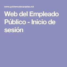 Web del Empleado Público - Inicio de sesión
