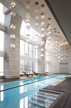 Park Hyatt New York Indoor Swimming Pool. The pool overlooks Carnegie Hall…