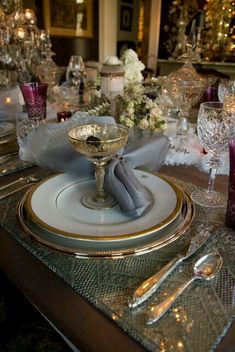 Elegant dinnerware.