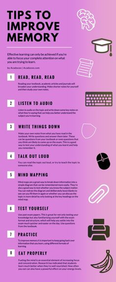 19 Best Study Tips To Improve Memory.Best Study Hacks For Students. how to remember everything you read the first time. Life Hacks For School, School Study Tips, Happy Life Tips, Effective Study Tips, Increase Memory, Brain Memory, Brain Tricks, Brain Health, Brain Nutrition