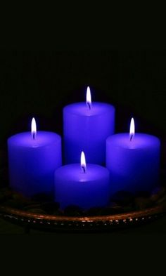 Blue candles