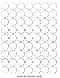 Sheila's Place - Templates - circle 1 inch full page