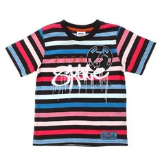 Red-Blue-Wh-Blk Stripe Skate Tee-C622-BBP-Red-Blue-White-Black $10.00 on Ozsale.com.au