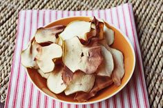 Apple Chips for Caramel Apple Day!  (Don't tell Rebecca - she doesn't think I have time to make them today!)