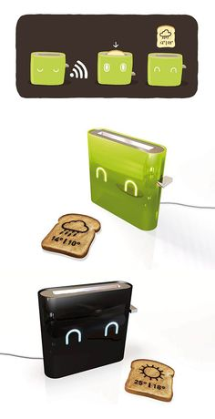 Prints the Weather on Your Toast - TechEBlog - How much fun would this be???