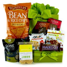 Healthy Gourmet Gifts - Snacks on the Run Gluten-Free, $62.00 (http://www.healthygourmetgifts.com/snacks-on-the-run-gluten-free/)