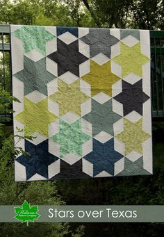 This quilt was inspired by one of my favorite quilt blocks, called Seven Sisters. It's a beautiful block, however it is traditionally assembled by cutting small pieces, and hand stitching them togethe