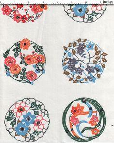 Boules de fleurs, impressions japonaises sur papier Kôzo 60gr. selon la technique du katazome (pochoir et sérigraphie sur soie) pour les papiers de lucas. le kôzo est la fibre des branches de mûrier.