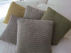 Ravelry: Chevron Study Pillow Collection #4 pattern by Krista Werbil