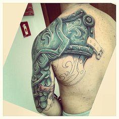 armadura. ... mistériotatuagemoficial. ..tatuagem. .. erinaldo 3337.9297 bairro de Fátima