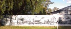 Painted fence, Swanpool Victoria, Australia Victoria Australia, Fence, Tapestry, Painting, Decor, Dekoration, Tapestries, Decoration, Painting Art