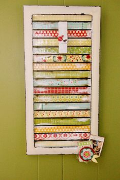 Altered window shutter using scrapbook paper..so cute.