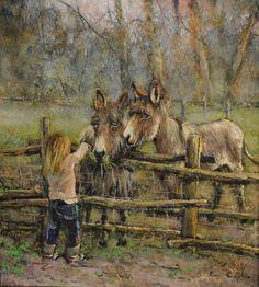 #cap24 Donkey Images, Farm Art, Country Life, Animal Pictures, Art Nouveau, Art Drawings, Porsche Carrera, Horses, Donkeys