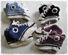 Knitted baby converse