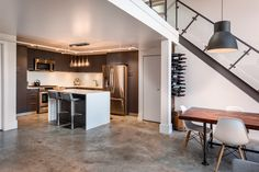 Traditional Yet Modern Double-Height Loft in Canada by TheMACNABS