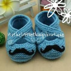 SIZES 0-12 MONTHS Handmade Movember Mustache Booties  LIGHT BLUE GREEN YELLOW PINK & TURQUOISE It's The Little Things Boutique :)