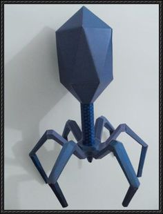 Science Papercraft - Bacteriophage Free Papercraft Download