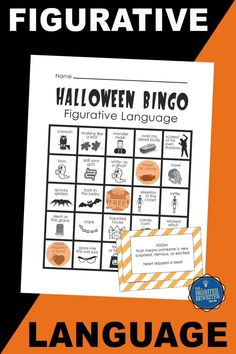 Practice alliteration, onomatopoeia, similes, and idioms with a fun Halloween-themed figurative language bingo game! Simply print-and-play using up to 24 pre-made student cards, or read ideas on how to play digitally. Great October fun! Bingo Games For Kids, Learning Games For Kids, Halloween Bingo, Halloween Activities, Vocabulary Building, Vocabulary Activities, Alliteration, Figurative Language, Idioms
