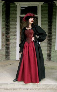 Milady de Winter Bodice Set - Medieval Renaissance Clothing