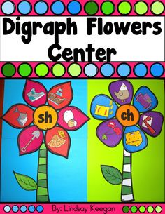 Digraph flowers literacy center.  Perfect for spring! Digraphs Worksheets, First Grade Worksheets, Kindergarten Worksheets, Kindergarten Classroom, Kindergarten Reading, Literacy Work Stations, Word Work Stations, Reading Fluency, Reading Groups