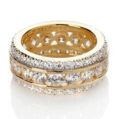 Shop Absolute™ Channel-Set Round Eternity Band Ring, read customer reviews and more at HSN.com.