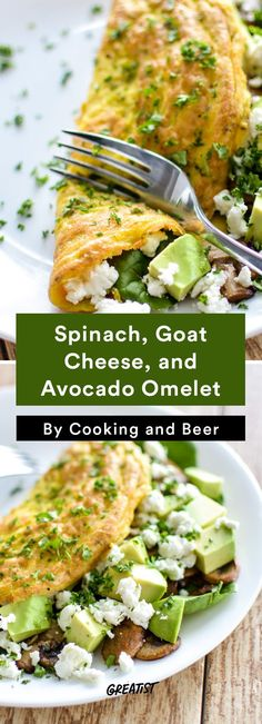 3. Spinach, Goat Cheese, and Avocado Omelet #Greatist greatist.com/... #health,#healty_sex,healthy,#healthy_food