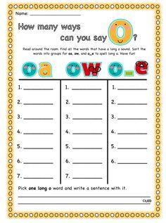 tattling to the teacher: long vowels