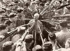 Col. Anthony Joseph Drexel Biddle instructs marines . 1943 . Anthony Joseph Drexel Biddle (1874-1948) was a pioneer of bayonet and hand-to-hand combat training in the US Marine Corps.