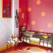 I Love polka dot walls for kids rooms..