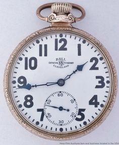 9408fcc61f9 Modelos de relógios de pulso · Rare Illinois Ball 23 Jewels B801146 ORRS  Rose Gold Mens Pocket Watch  Ball Modelos De