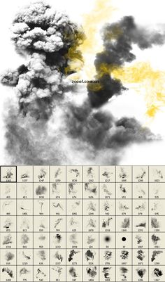 Free smoke photoshop brushes Pack   (http://themecavern.com/free-smoke-photoshop-brushes-pack) ★ || CHARACTER DESIGN REFERENCES