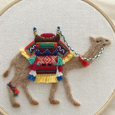 I tried my hand at needle felting combined with hand embroidery to make this cute little camel embroidery hand embroidery stitches the reverse side sarah s hand embroidery tutorials Hand Embroidery Dress, Hand Embroidery Videos, Hand Embroidery Stitches, Embroidery Fashion, Hand Embroidery Designs, Ribbon Embroidery, Machine Embroidery, Crewel Embroidery, Creative Embroidery