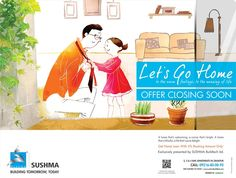 OFFER CLOSING SOON    Let's Go Home   Get Home Loan With 5%Booking Amount Only. BOOK NOW  Source: http://www.sushmabuildtech.com/lets-go-home/  #lets_go_home #sushma_offer #sushma_buildtech_limited