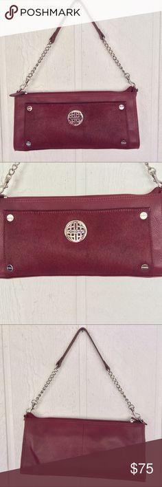 02b74f86d8297 NWOT KATE LANDRY RED LEATHER SHOULDER BAG NWOT gorgeous deep red Kate Landry  leather and cow